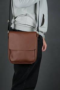 Шкіряна чоловіча сумка Брюс, натуральна шкіра Grand колір Віскі