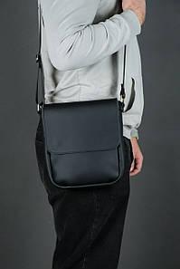 Шкіряна чоловіча сумка Брюс, натуральна шкіра Grand колір Чорний