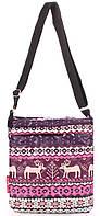 Оригинальная женская сумка -планшет из болоньи POOLPARTY pool-59-pink-blue