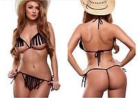 Комплект сексуальный  мини бикини черный