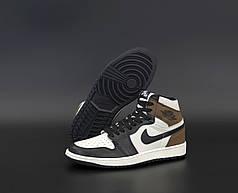 Чоловічі кросівки Nike Air Jordan.Black/White. ТОП Репліка ААА класу.
