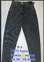 """Джинсы-баллон женские, молодёжные, размеры 34-42 """"RESERVED"""" недорого от прямого поставщика"""