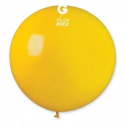"""Куля Гігант G220 31"""" Пастель Жовтий 02"""