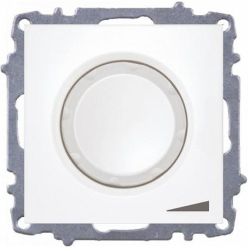 Світлорегулятор EL-BI ZENA білий 800W з підсвіткою без рамки