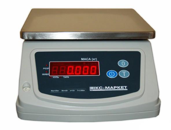 Весы порционные ICS-155PW ― Весы настольные фасовочные укрвесы