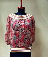 Блуза шелковая женская Bebe цветная