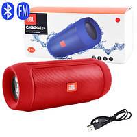 Bluetooth-колонка JBL CHARGE 2+, speakerphone, радио, PowerBank, red