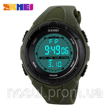 Часы SKMEI Military GREEN cпортивные водонепроницаемые c LED подсветкой