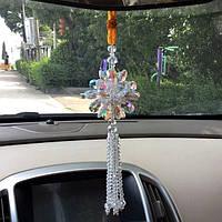 Подвеска в машину для девушек Амулет кристал счастья