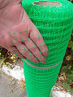 Сетка пластиковая 0.5м х100м (ячейка 12*14мм) зелёная, фото 1