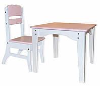 Детский столик и стульчик ДЕРЕВО покраска, фото 1