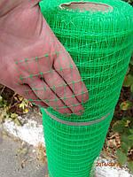 Сетка пластиковая 0.5м х100м (ячейка 30*35мм) зелёная, фото 1
