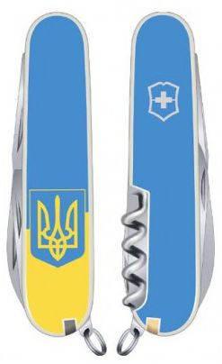 Карманный функциональный складной нож Victorinox Spartan Ukraine 13603.7R3 голубой
