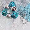"""Набор """"Новогодние украшения  АКВА"""" (шарики, снежинки, фатин, гирлянда, волос ангела)"""