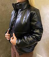 """Куртка женская ZARA эко кожа размеры: 50-56 """"LARA-3"""" недорого от прямого поставщика"""
