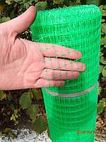 Сетка пластиковая 2х100м (ячейка 12*14мм), зелёная, фото 1