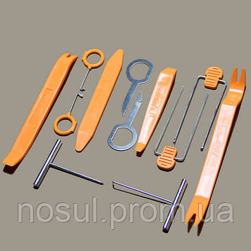 Набор инструментов съемников 12 штук для снятия демонтажа обшивки разборки салона автомобиля