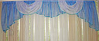 Ламбрекен №3 на карниз 2,5-3м. Цвет голубой