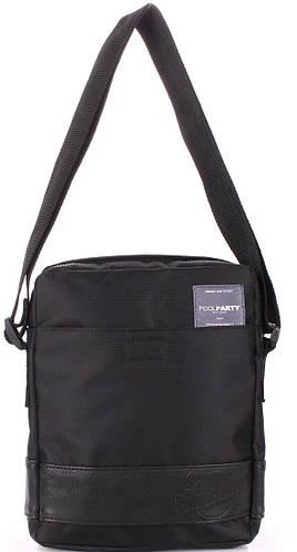 Отличная мужская сумка из полиэстера POOLPARTY pool-94-oxford-black