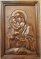 Почаевская икона Божьей Матери резная