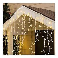 """Світлодіодна гірлянда вулична """"Бахрома"""" 120 LED, 4m (RD-7118) (Провід-чорний, колір-теплий)"""