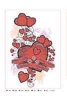 Схема для вышивки бисером или крестиком Сердца, А3, фото 1