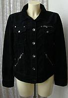 Куртка женская жакет модный вельвет бренд Esprit р.48 5268а