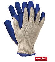 Перчатки хлопчатобумажные, защитные, покрытые резиной, Rejs RU N