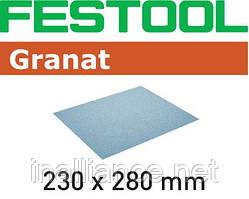 Шлифовальные листы 230 мм x 280 мм P40 GR/10, Granat, Festool