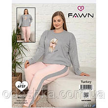 Піжама жіноча інтерлок великий розмір.
