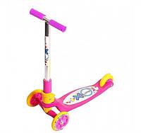 Самокат детский Tredia (Explore оригинал) поворот руля, руль складывается наклоном Розовый