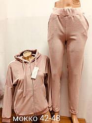 Женский велюровый костюм на меху