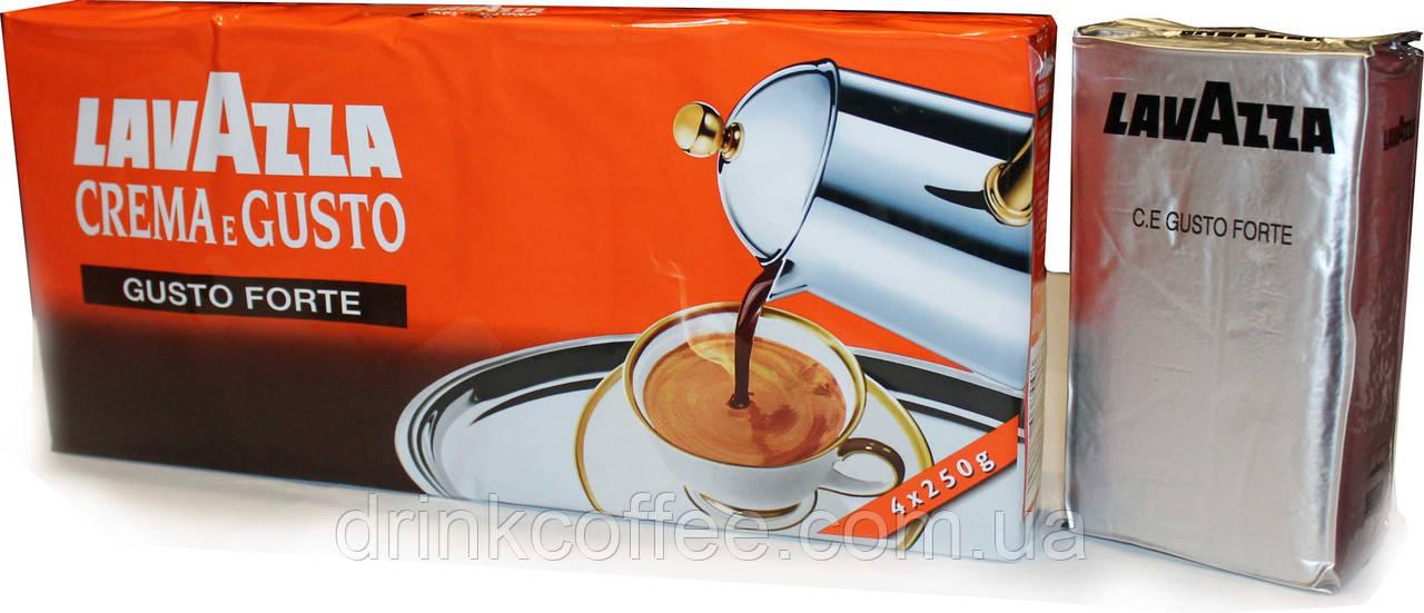 Кофе молотый Lavazza Crema e Gusto Forte, 20% Арабика/80% Робуста, Италия, 250 г