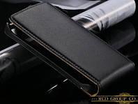 Кожаный чехол флип для Nokia N8 черный