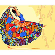 Картина по Номерам Танцующая девушка 40х50см Strateg
