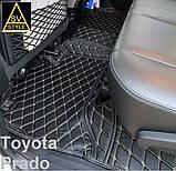 3D Килимки Toyota Land Cruiser 100 (1998-2008) з Екошкіри, фото 10