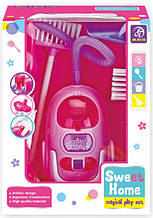Іграшковий пилосос A5993-5995 з набором для прибирання (Рожевий)