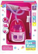Іграшковий пилосос A5993-5995 з набором для прибирання (Малиновий)