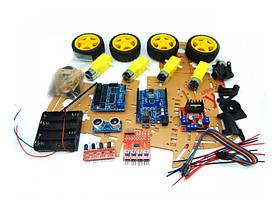Многофункциональный автомобиль конструктор робот для начинающих Car Kit 4 WD для Ардуино