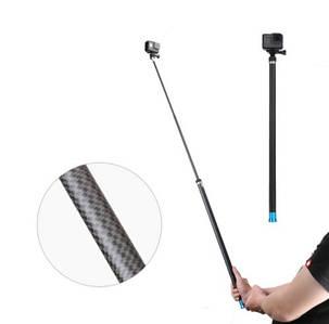 Палка для селфи для экшн камер с карбонового волокна TELESIN P-MNP-270