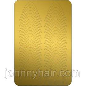Металлизированные наклейки Canni M-004 золото