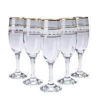 Набор бокалов для шампанского 190 мл 6 шт MIS Bright ArtCraft 31-146-272