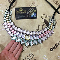 """Воротник - ожерелье """"Валери"""", цветное."""
