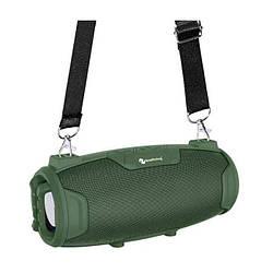 Портативная Bluetooth колонка New Rixing NR3026M + микрофон Green