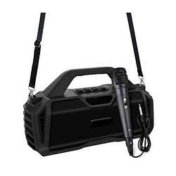 Портативная Bluetooth колонка New Rixing NR6011M + микрофон Black