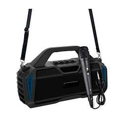 Портативная Bluetooth колонка New Rixing NR6011M + микрофон Black/Blue