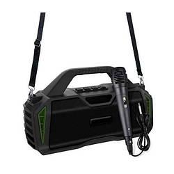 Портативная Bluetooth колонка New Rixing NR6011M + микрофон Black/Green