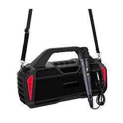 Портативная Bluetooth колонка New Rixing NR6011M + микрофон Black/Red