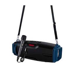Портативная Bluetooth колонка New Rixing NR6012M + микрофон Black/Blue