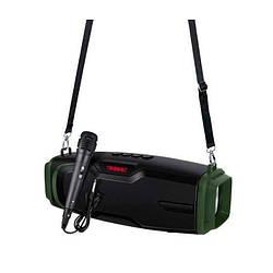 Портативная Bluetooth колонка New Rixing NR6012M + микрофон Black/Green